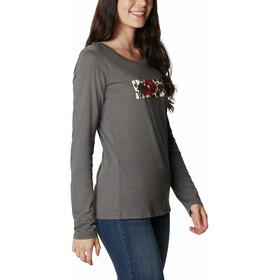 Columbia Blustery Peak Longsleeve T-Shirt Dames, charcoal heather/botanical gem